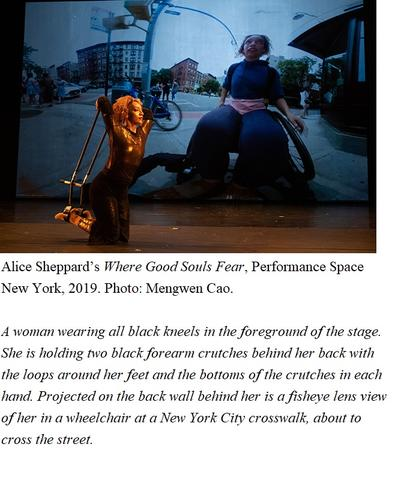 Alice Sheppard's <Where Good Souls Fear>, Performance Space New York, 2019. Photo: Mengwen Cao